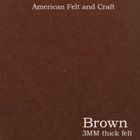 Brown - 3mm thick felt sheet