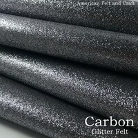 Carbon Glitter Felt