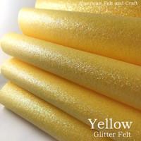 Yellow Glitter Felt