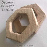 Hexagon - beech-wood teether