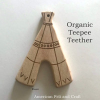 Teepee - beech-wood teether