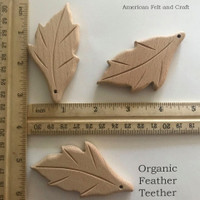 Feather - beech-wood teether