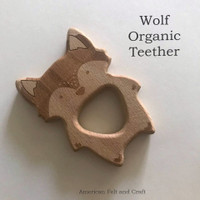 Organic Wolf - beech-wood teether