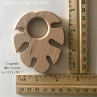 Organic Monstera Leaf  - beech-wood teether
