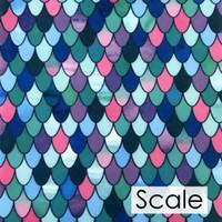 Scale print felt