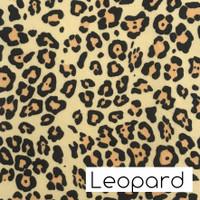 Leopard print felt