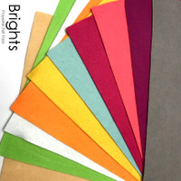 Brights - 10 piece polyester felt pack