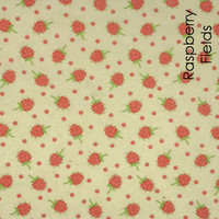 Raspberry Fields  - Printed Felt