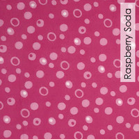 Raspberry Soda  - Printed Felt