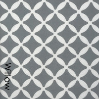 Willow  - Printed Felt Grey