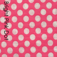 Bright Pink polka dot felt