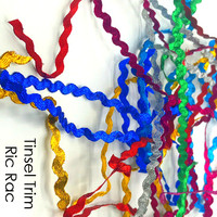 Tinsel Trim - glitter metallic ric rac