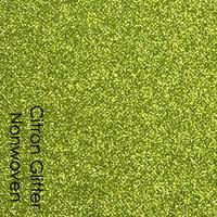 Citron - glitter nonwoven