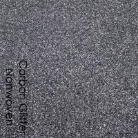 Carbon - glitter nonwoven