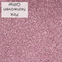 Pink - glitter nonwoven