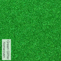 Green - glitter nonwoven