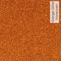 Orange - glitter nonwoven