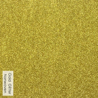 Gold - glitter nonwoven