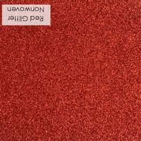 Red - glitter nonwoven
