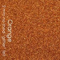 """Orange - 2mm faux """"glitter"""" felt"""