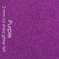 "Purple - 2mm faux ""glitter"" felt"