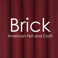 Brick - wool blend felt