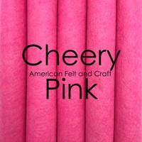 Cheery Pink - wool blend felt