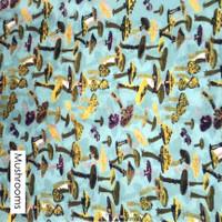 Blue Mushroom- printed felt