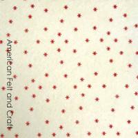 Starburst Felt - Red and Cream