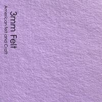 Pale Purple - 3mm thick felt sheets