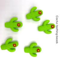 Cactus Silicone Teething Beads