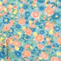 Countryside Floral - flower print felt