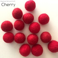 Cherry - Wool Felt Balls 2 cm