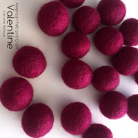 Valentine - Wool Felt Balls 2cm  20mm