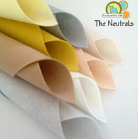 The Neutrals 8 piece Felt Pack
