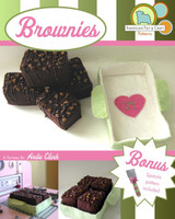 Felt Food- Classic Fudge Brownies.