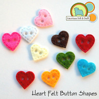 Heart Felt Button Shapes