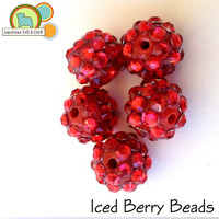 Iced Berry Beads 5 count