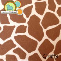 Giraffe - Acrylic Print Felt