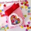 See our free tutorial to make this adorable felt and sweetheart button project: http://americanfeltandcraft.wordpress.com/2014/01/16/feltvalentinesdaybox/