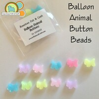 Balloon Animal Button/ Beads