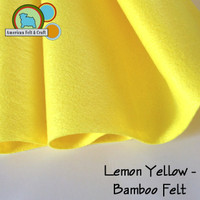 Lemon Yellow - Bamboo Felt