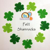 Felt Shamrocks