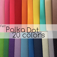 Polka Dot Felt Sheets NEW COLORS