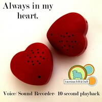 Heart shaped record able voice box for toys.