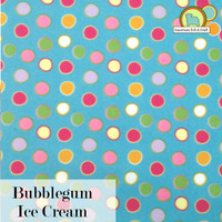 Bubblegum Ice Cream - Printed acrylic felt.