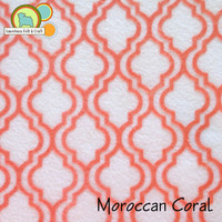 Moroccan Coral - Acrylic Patterned Felt