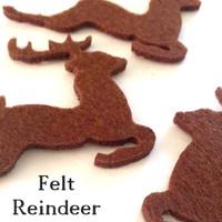 Felt Reindeer Cutouts