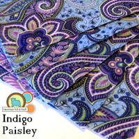 Indigo Paisley Acrylic Felt Print