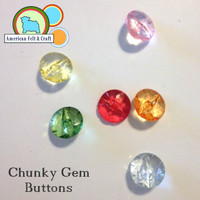 6 Chunky Gem Buttons